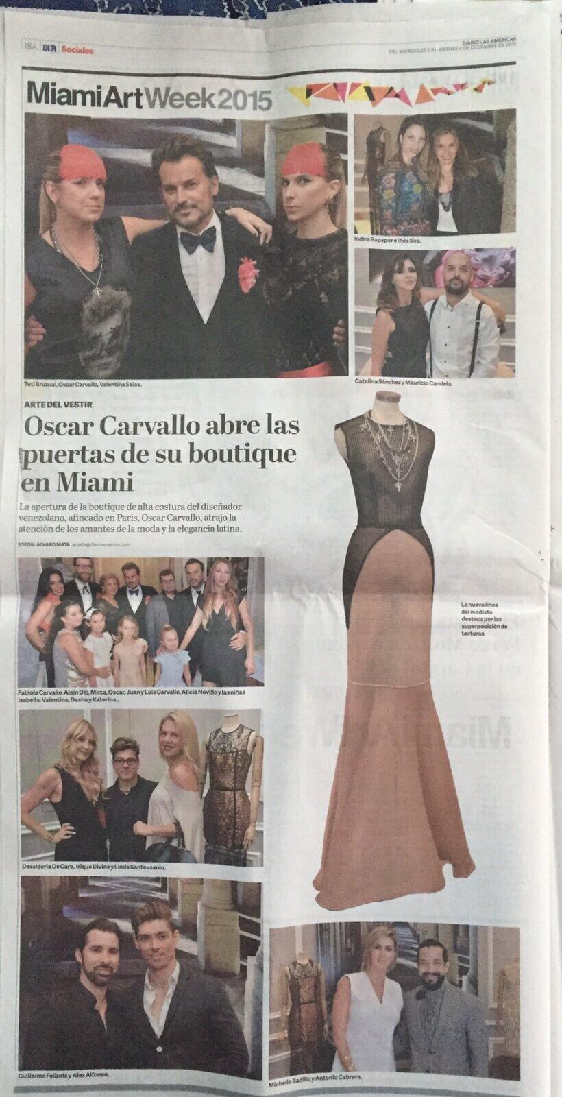 El Diario de las Americas_Oscar Carvallo_Diciembre 2015 120215